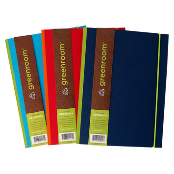 Clementine Paper Greenroom 7x10 Solid Paper with Cloth Spine Notebook