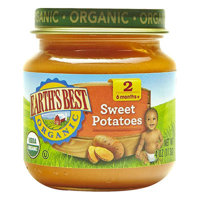 Earths Best Earth's Best Organic Sweet Potatoes Baby Food, 4 oz. (12 Count)