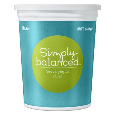 Simply Balanced 0% Plain Greek Yogurt 32 oz