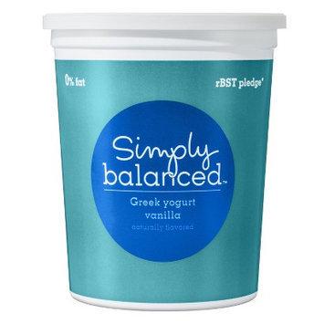 Simply Balanced 0% Vanilla Greek Yogurt 32 oz