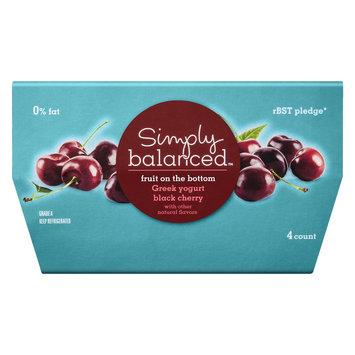 Simply Balanced 0% Fruit on the Bottom Black Cherry Greek Yogurt 4 oz