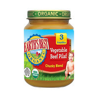 Earths Best Earth's Best Baby Food Jar - Vegetable Beef Pilaf 6oz (12 Pack)