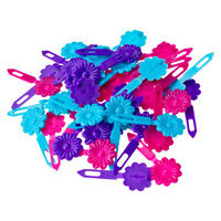 Gimme Clips Flower Snaps - 42 Count (Pink/Blue/Purple)
