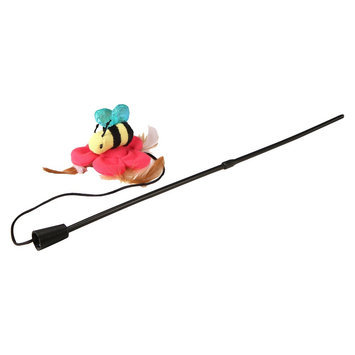 Smartykat Smarty Kat Chitter Catch Wand Pet Toy, Assorted: Bird, Bee, and Bug