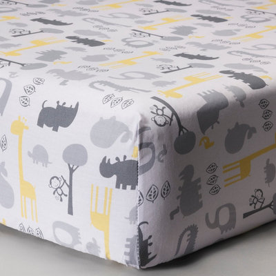 Chevron Animals Woven Fitted Crib Sheet by Circo