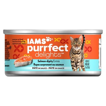 Iams Purrfect Delights Wet Cat Food Salmon-Dipity Entree Pate in