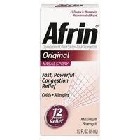 Afrin 12 Hour Decongestant Nasal Spray, Original - .5 fl oz