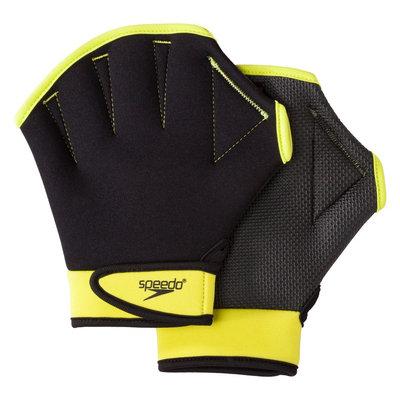 Warnaco Swimwear Inc Speedo Adult Aquatic Fitness Glove Black & Kiwi - Large