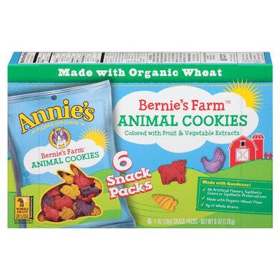 Annie's®  Homegrown Crackers Bernie's Farm Animal Cookies Snack Packs
