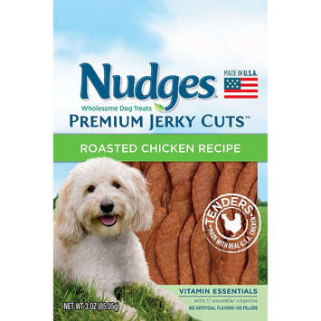 Nudges Dog Treats Premium Jerky Cuts Vitamin Essentials Roasted Chicken 3 oz