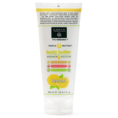Earth Therapeutics Pro-Organic Triple Butter Lemon Body Butter