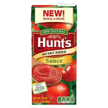 Hunt's No Salt Added Tomato Sauce 33.5 oz