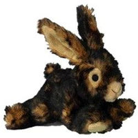 Patchwork Pet Plush Rabbit Dog Toy 15in