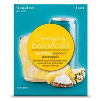 Simply Balanced Sparkling Pineapple Coconut 4pk 8.4 oz