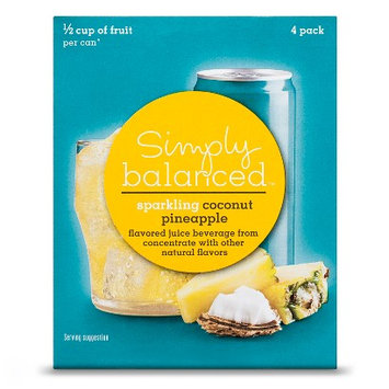 Simply Balanced Sparkling Pineapple Coconut 4pk 8.4 oz
