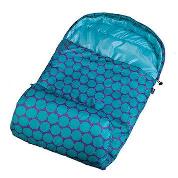 Wildkin Big Dot Aqua Stay Warm Sleeping Bag