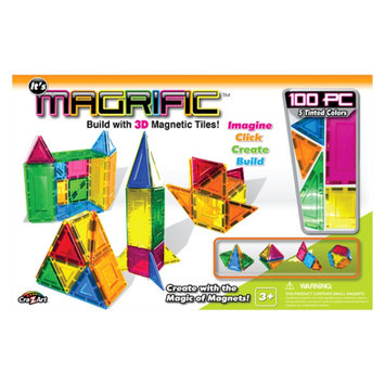 Cra-z-art Magrific 100 piece Magnetic Tiles