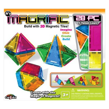 Cra-z-art Magrific 28 piece Magnetic Tiles