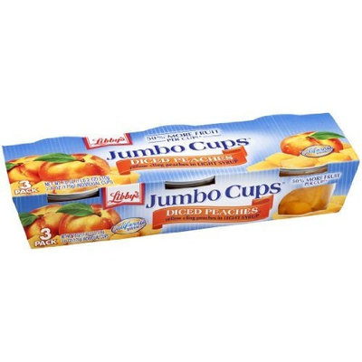 Libbys Libby's Jumbo Cups-Diced Peaches in Light Syrup, 18-Ounce Packages (Pack of 8)