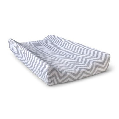 Solid Changing Pad Cover - Grey Chevron by Circo