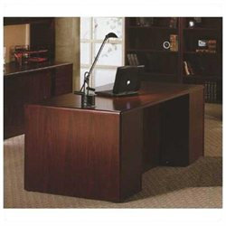 HON 10700 Double Full Pedestal Desk, Henna Cherry 10799JJ