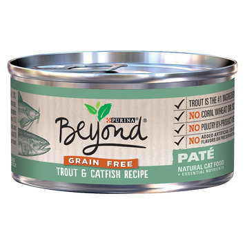 Purina Beyond Natural Cat Food Trout & Catfish Pate 3 oz
