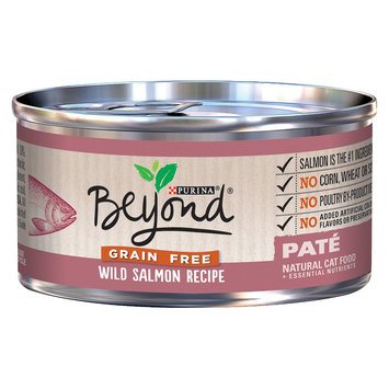 Purina Beyond Natural Cat Food Grain Free Wild Salmon Recipe Pate 3 oz