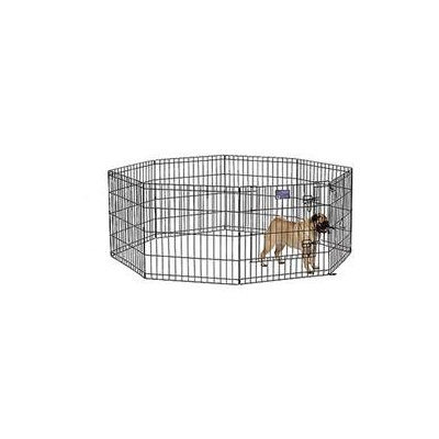Midwest Metal Products Co. Midwest Black Exercise Pen With Door