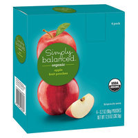 Simply Balanced Organic Apple Fruit Pouches 3.2oz 4ct