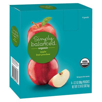 Simply Balanced Organic Apple Fruit Pouches 3.2oz 4ct