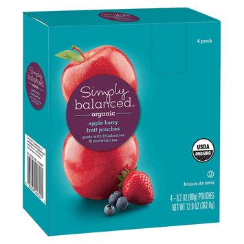 Simply Balanced Organic Apple Berry Fruit Pouches 3.2oz 4ct