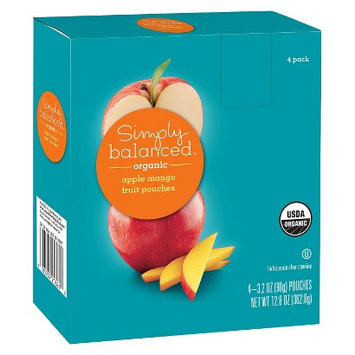 Simply Balanced Organic Apple Mango Fruit Pouches 3.2oz 4 ct