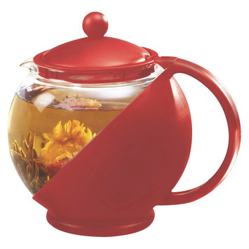 Primula Half Moon Teapot Set - Red