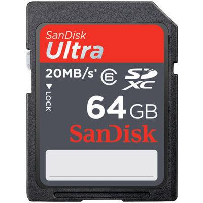 SanDisk Ultra 64GB Class 10 SDHC Memory Card