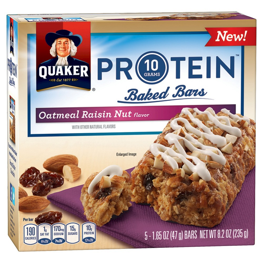 Quaker® Protein Baked Bars Oatmeal Raisin Nut