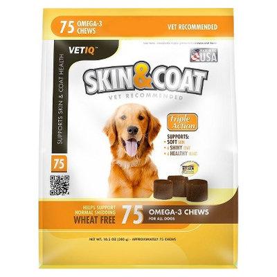 VetIQ Skin and Coat Omega 3 Chews for Dog - 75 Count