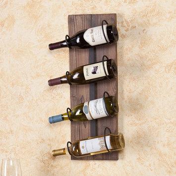 Southern Enterprises Elmont 4-Bottle Wall-Mount Wine Rack (Brown)