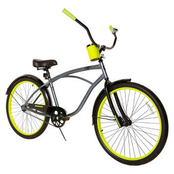 License Men's Rip Curl Cruiser Bike - Grey/Yellow (26