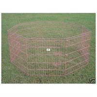 Bestpet 42 Pink Pet Dog Cat Play Exercise Pen Fence w/Case 4P