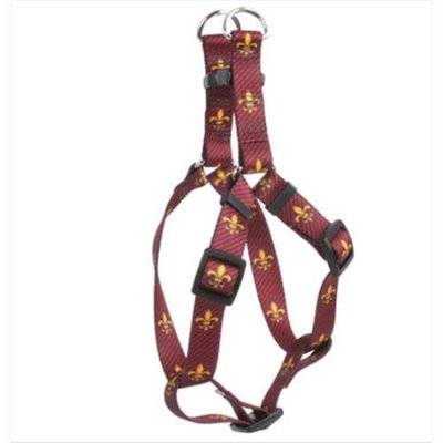 Yellow Dog Design SI-FDLR103L Fleur de Lis Red Step-In Harness - Large