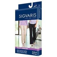 Sigvaris 860 Select Comfort Series 30-40 mmHg Women's Closed Toe Thigh High Sock Size: SL, Color: Black Mist 14