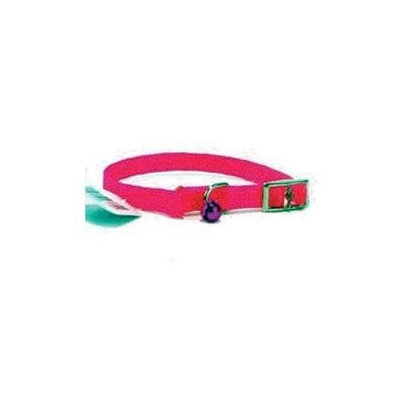 Hamilton Pet Products Braided Safety Cat Collar in Hot Pink