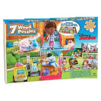 Cardinal Industries Disney Junior Puzzles in Wood Box - 7 pk