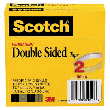 Scotch 1/2in x 1296in Double-Sided Tape - 1 PK of 2