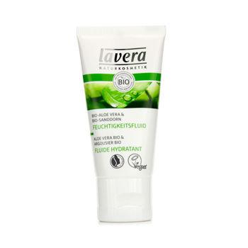Lavera Soothing Moisturizing Fluid - Aloe Vera & Sea Buckthorn (For Sensitive Skin) 30ml/1oz