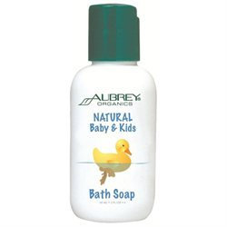 Natural Baby & Kids Bath Soap, 2 oz, Aubrey Organics