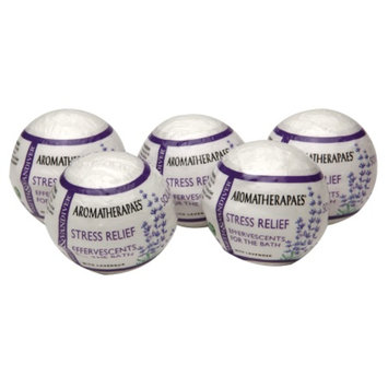 Aromatherapaes Effervescents for the Bath, Stress Relief, Lavender, 5 ea
