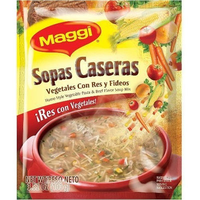Maggi Sopas Caseras Beef, 3.52-Ounce (Pack of 12)