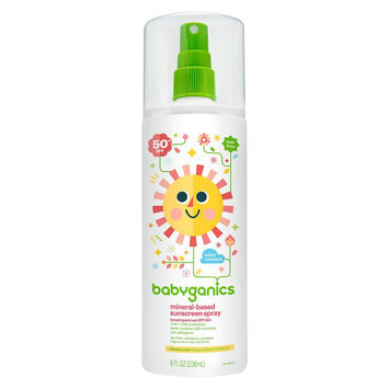 Babyganics Mineral-Based Baby Sunscreen Spray, SPF 50 - 8oz Spray Bottle
