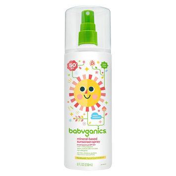Babyganics Mineral-Based Baby Sunscreen Spray, SPF 50 - 8oz Spray Bottle